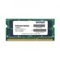 Memorie laptop Patriot 4GB DDR3 1600MHz CL11 - Memorie RAM laptop