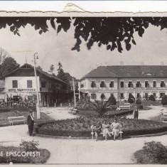 BIHOR BAILE EPISCOPESTI HOTEL DACIA HOTEL TRANSILVANIA CIRCULATA 1938 - Carte Postala Crisana dupa 1918, Fotografie