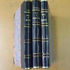 Dante Divina Comedie 3 volume Craiova 1932 - 1944 ilustratii Mac Constantinescu - Carte veche
