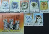 GUINE-BISSAU, PISICI, 7 V  + 1 S/S, NEOB, 1985 - G BIS 43, Fauna