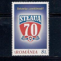 ROMANIA 2017 - 70 ANI STEAUA BUCURESTI - LP 2149 - Timbre Romania, Nestampilat