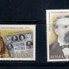 ROMANIA 2017 - TITU MAIORESCU- LP 2150 - Timbre Romania, Nestampilat