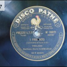 Mario Sammarco(1867-1930) - arii din opere - disc patefon gramofon v foto! - Muzica Opera, Alte tipuri suport muzica