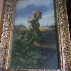 Tablou cu rama originala,litografie veche a picturii de colectie k. makovski