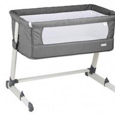 Patut co-sleeper 2 in 1 Together Grey BabyGo - Patut pliant bebelusi