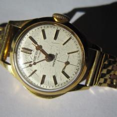 Ceas din aur 18k damă., Mecanic-Manual
