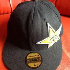 Sapca New Era Rockstar R, full cap, originala, marimea L. - Sapca Barbati, Marime: L, Culoare: Negru