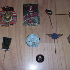 Lot insigne rusesti si romanesti vechi, stare foarte buna