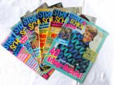 6 Reviste tricotaje STRICK & SCHICK,  1990, 1991. In limba germana