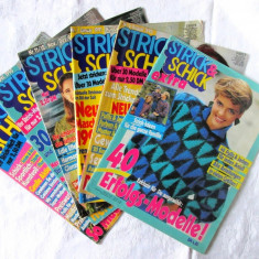 6 Reviste tricotaje STRICK & SCHICK, 1990, 1991. In limba germana - Revista vintage