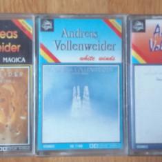3 casete audio Andreas Vollenweider - Muzica Ambientala Altele
