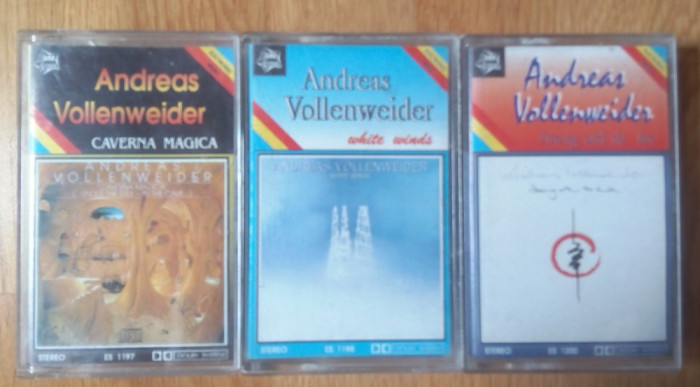 3 casete audio Andreas Vollenweider