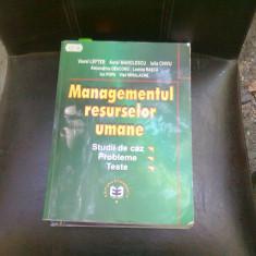 MANAGEMENTUL RESURSELOR UMANE - VIOREL LEFTER - Carte Resurse umane