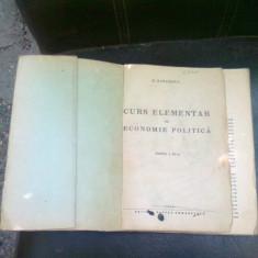 CURS ELEMENTAR DE ECONOMIE POLITICA - H. ZAHARESCU