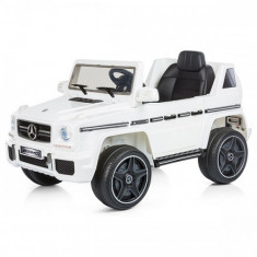 Masinuta Electrica SUV Mercedes Benz G63 2017 White - Masinuta electrica copii Chipolino
