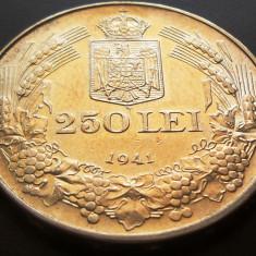 MONEDA ISTORICA ARGINT 250 Lei- ROMANIA anul 1941 *cjaCOD 29 Totul Pentru Tara - Moneda Romania
