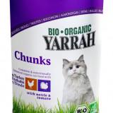 Hrana organica umeda cu Bucati de pui si curcan, urzici si rosii, pentru pisici, 405 g - Hrana caine