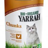 Hrana organica umeda cu Bucati de pui, urzici si rosii, pentru pisici, 405 g - Hrana caine