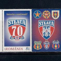 ROMANIA 2017 - 70 ANI STEAUA BUCURESTI - VINIETA 2 - LP 2149 - Timbre Romania, Nestampilat