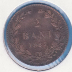(R) MONEDA ROMANIA - 2 BANI 1867 HEATON