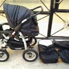 Obaby Kiddy 2x1 Reversibil carucior copii 0 - 3 ani - Carucior Gemeni OBaby, Altele