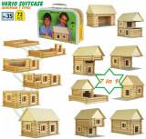 VARIO SUITCASE - set constuctie modular lemn 9 in 1  Walachia jucarii din lemn