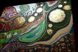 Pictura tehnica mixta ornamente pictate reliefate Tablou Abstract Gustav Klimt 4, Ulei