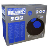 Fotoliu gonflabil iMusic 2 negru/albastru gamer/multimedia cu amplificator