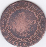 Moneda Austro - Ungaria 3 Kreutzer 1812B - KM#2116 VG