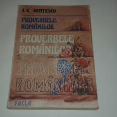 I.C.HINTESCU - PROVERBELE ROMANILOR - Carte Proverbe si maxime