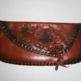Plic dama maro handmade din piele, nou! - Geanta Dama, Marime: Medie, Geanta plic