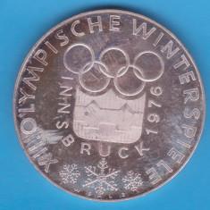 (5) MONEDA DIN ARGINT AUSTRIA - 100 SCHILLING 1976, JOCURILE OLIMPICE INNSBRUCK, Europa