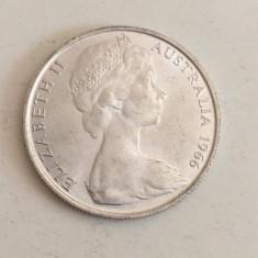 MONEDA ARGINT AUSTRALIA 50 CENTS 1966 ELISABETH II