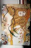 Pictura tehnica mixta ornamente pictate reliefate Tablou Abstract Gustav Klimt 9, Ulei