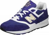 Adidasi New Balance Men's Ml597 Trainers marimea 41.5 si 42.5, Albastru, Piele intoarsa, New Balance