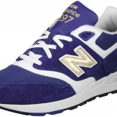 Adidasi New Balance Men's Ml597 Trainers marimea 41.5 si 42.5 - Adidasi barbati New Balance, Culoare: Albastru, Piele intoarsa