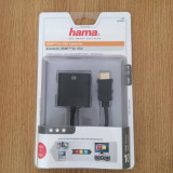 Vand adaptor VGA-HDMI Hama cu mufa audio - Cablu PC