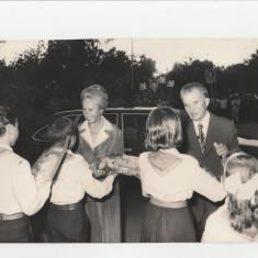 Fotografie veche Ceausescu Nicolae si Elena, poza Nicolae Ceausescu de colectie