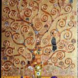 Pictura tehnica mixta ornamente pictate reliefat Tablou Abstract Gustav Klimt 10 - Pictor roman, Ulei