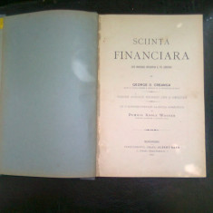 SCIINTA FINANCIARA - GHEORGHE D. CREANGA - Carte Management