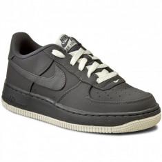 NIKE AIR FORCE 1 GS-cod 596728 030-Garantie - Adidasi barbati Nike, Marime: 38, 38.5, Culoare: Gri, Piele naturala