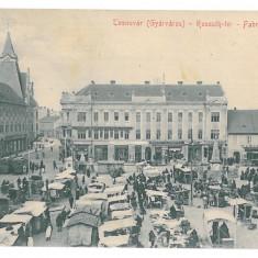 3315 - Banat, TIMISOARA, Market - old postcard, CENSOR - used - 1915 - Carte Postala Banat 1904-1918, Circulata, Printata