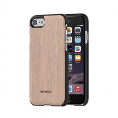 Husa de lemn Mozo Back Cover Apple iPhone 7 Plus Light Oak/Gold Trim