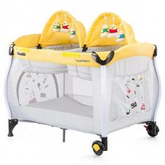 Patut pliabil Chipolino Twin Stars Lemon
