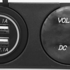 Sursa De Alimentare, 2x USB, 5V/3.1A, Voltvetru - De Panou/76097 - Sursa alimentare