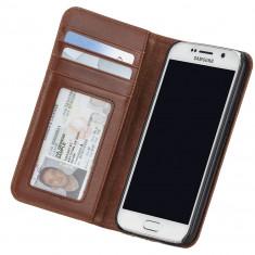 Husa de piele Case-Mate Wallet Folio pentru Samsung Galaxy S6, Brown - Husa Telefon