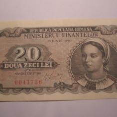 20 lei 1950 AUNC - Bancnota romaneasca