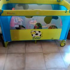 Pătuț-tarc bb - Patut pliant bebelusi, Alte dimensiuni, Albastru