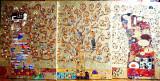 Pictura tehnica mixta ornamente pictate reliefat Tablou Abstract Gustav Klimt 12, Ulei