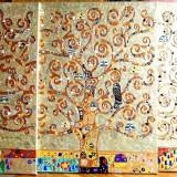 Pictura tehnica mixta ornamente pictate reliefat Tablou Abstract Gustav Klimt 12 - Pictor roman, Ulei